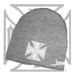 WCC IRON CROSS BEANIE BASIC GREY